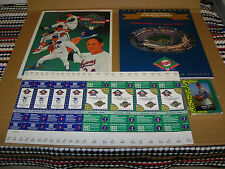 1993 NOLAN RYAN TRIBUTE COLLECTION TICKETS, CARDS AND TWO PROGRAMS COMPLETE