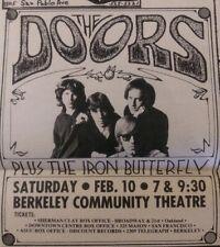 The Doors Concert Ad 1968 @ Berkeley Newspaper poster avalon ballroom