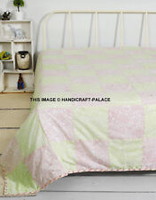 55851 Floral Cotton Dohar Blanket Bohemian Queen AC Blanket Decorative Handmade