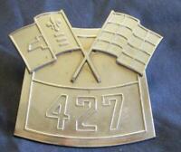 Vintage Chevrolet GM Diecast Metal 427 Engine Air Cleaner Plate Emblem Part