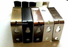 Metal Heavy Duty Curtain Pole Rod Bracket Holder White Black Silver Brass copper