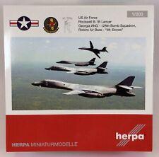 Herpa Wings 558181 USAF B-1B Georgia ANG 'Mr Bones' 1/200 Scale Diecast Model
