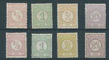 1876TG Nederland Cijferserie NR.30-33-30b-33a postfris mooie series zie foto's..