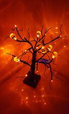 Halloween 24 Orange LED Light Up Pumpkin Tree spooky Party Prop
