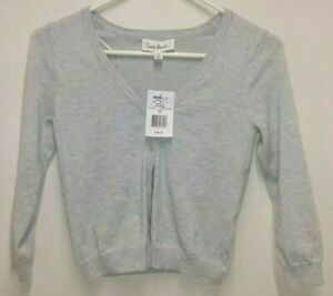 Cloud Chaser Light Gray Cardigan Sweater Button Down - Junior Size XS ***NWT***