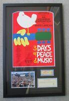Original 1969 Woodstock Music & Art Fair Poster & Ticket, over 50 Years Old!