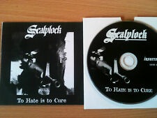 SCALPLOCK ~'TO HATE IS TO CURE'~RARE UK PROMO ONLY CD 1998~GRINDCORE~PUNK