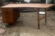 danish mid century modern furniture Desk Teak Oak Walnut Vintage Solid Wood