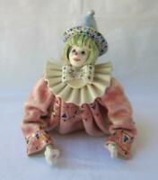 Exquisite Rare Vintage Porcelain Clown Made in Italy for Gumps San Francisco No3