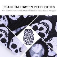 Haustier T-Shirt Plain Halloween Schädel Muster Haustier Kleidung ohne Ärmel Hau