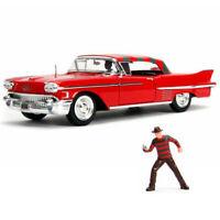1/24 Jada Nightmare On ELM Street 1958 Cadillac Series 62 & Freddy Krueger 31102