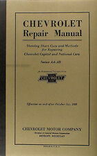 1927 1928 Chevrolet Car Truck Shop Manual 27 28 Chevy Repair Service Book AA AB