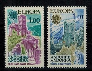 "(b1)  timbres d'Andorre Français n° 261/262 neufs** année 1977 ""europa"""