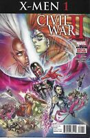 Civil War X-Men Comic 1 Cover A David Yardin First Print 2016 Cullen Bunn Marvel