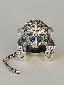 Genuine Pandora Silver Pave Monkey Charm 798054CZ