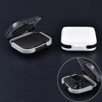 Portable Liner Foam and ABS Material Black&White Hearing Aid Case Storage Box QA