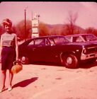 vintage+35mm+slide+1968+woman+by+cars+sign+Molly%27s+Diner+Bath+New+York+NY