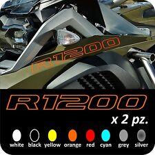 2 Adesivi Serbatoio Stickers Moto BMW R 1200 gs adventure LC ouline 245x25 mm
