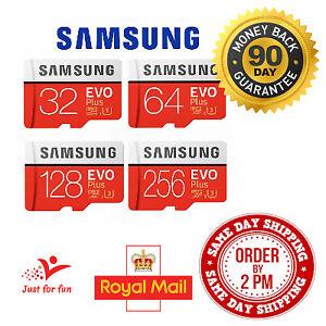 Samsung 16GB 32GB 64GB 128GB 256GB 512GB EVO Plus Micro SD Memory Card Class 10