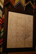1841 REPUBLIC OF TEXAS MAP FRAMED-(CLASSIC AMERICAN MAP)