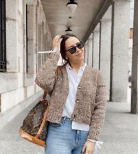 ZARA Brown Twist Knit Cardigan Size L