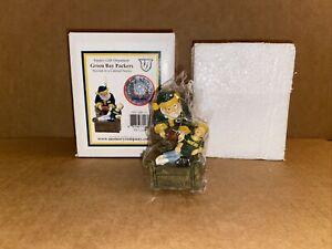 Santa's Gift Figurine, Green Bay Packers Boy Asleep in Chair, The Memory Company