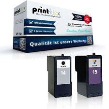 2x NO ORIGINAL Cartuchos de tinta para LEXMARK X 2620 Tinta Quantum print