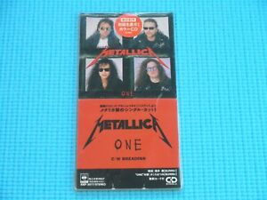 """METALLICA 3"""" CD Single One / Breadfan Limited Red Disc 1989 Japan 10EP-3077"""