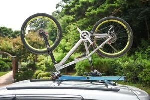 Upside Rooftop Car Bicycle Rack with electronic lock and carry case