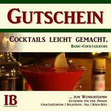 Gutschein: Cocktails leicht gemacht. Basic-Cocktailkurs in Köln.