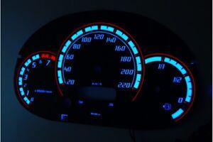 Ford Street KA glow gauges dials plasma dials kit tacho glow dash shift indiglo
