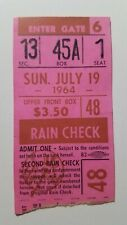 Luis Tiant MLB Debut 1964 July 19 New York Yankees Cleveland Indians Ticket Stub