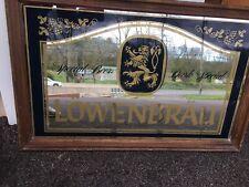 Vintage Lowenbrau Beer Mirror Sign