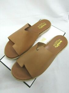 """Coach And Four Style """"Farran"""" Genuine Brown Leather Sandals (New) Womens Size 9"""