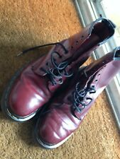 Dr Martens DM'S Docs Airwair Oxblood - Brown Boots Made In England 8 Hole Size 5