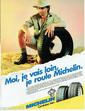 Publicite ADVERTISING 115 1989 tires michelin mxl mxv