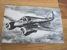 "AT-9 Curtiss Advanced  Airplane Picture World War II 2 Black White 8""x5 1/4"""