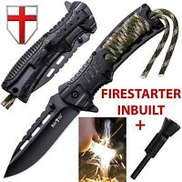 Best Survival Knife Edc Small Pocket Tactical Folding With Fire Starter Army