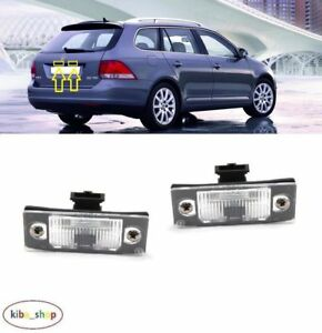 VW GOLF V MK5 2004 - 2009 ESTATE NEW REAR NUMBER PLATE LIGHT LAMPS LEFT + RIGHT