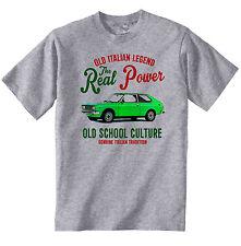 Vintage Italienische Auto Fiat 128 Coupe-NEU Baumwolle T-Shirt
