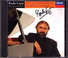 Radu LUPU Signiert SCHUBERT Piano Sonata D.664 D.960 CD Klaviersonaten Autograph