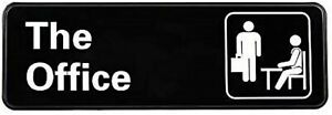 The Office Sign Plaque Sign Symbol Door Wall [9-inch x 3-in.] Acrylic w Adhesive