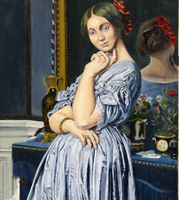 Signed C Charalambidis Original Art Reproduction Oil Painting On Canvas Ingres