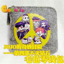 JoJo's Bizarre Adventure Diamond wa Kudakenai Coin Purse Wallet  Felt  Gift
