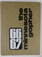 University of MN Gopher College Yearbook 1966/67 Lou Nanne Glen Sonmor 408 pages