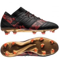 adidas Men's Football Boots Nemeziz 17.1 FG Football Boots - Black/Red - New