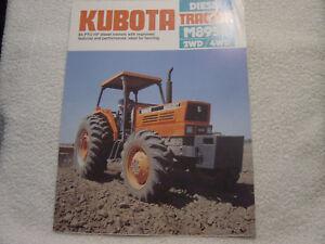 KUBOTA M8950 2WD/4WD DIESEL 1984 TRACTOR SALES BROCHURE