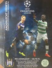 2017 ANDERLECHT v CELTIC CHAMPIONS LEAGUE PROGRAMME FROM THE GROUND