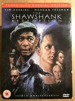 The Shawshank Redemption DVD 1994 Stephen King Prison Movie Classic 3-Discs