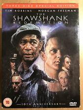 THE SHAWSHANK REDEMPTION ~ 1994 Stephen King Prison Film Classic 3-Disc UK DVD
